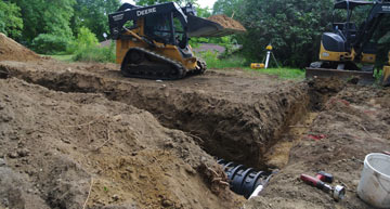 Underground pipes | Septic Services